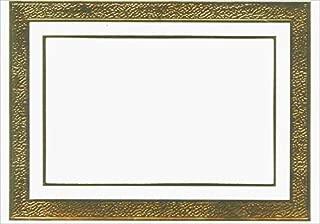Gold Foil Border Photo Holders - Box of 18 Designer Greetings Christmas Cards