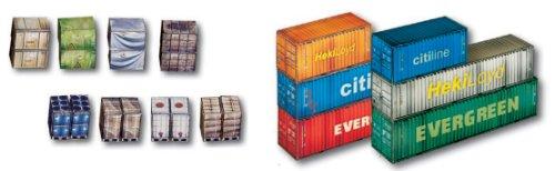 Heki 1/87 HO neuf: Container et chargement (Carton)