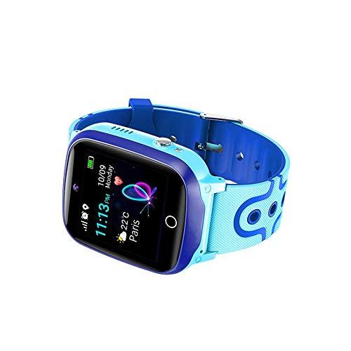 Kinderuhr Digital Smart Watch Kinder GPS Ortung Telefon Smartwatch Mit Spiele Kinder Handy Kinderuhr Anruf Funktion Schrittzähler Kinder Telefon Wasserdicht (Q13 GPS Blue)