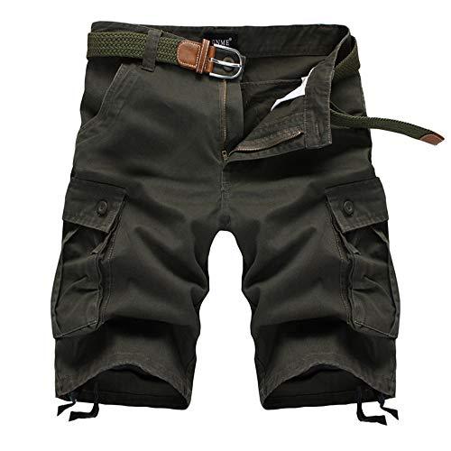 Traje de baño de los hombres Pantalones cortos de verano hombres derecho de cinco puntos pantalones de hombre de gran tamaño sueltos pantalones casuales pantalones cortos deportes al aire libre Herram