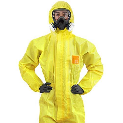 Tuta Protettiva Contro Sostanze Chimiche, Indumenti Protettivi Da Laboratorio Indumenti Protettivi Liquidi Protezione Impermeabile Contro Acidi E Alcali Tuta Protettiva Congiunta(L)