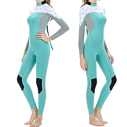 Yamyannie Traje de Neopreno para Mujer Traje de Neopreno for Mujer Protección UV 2 mm Cremallera Trasera Traje de Neopreno de Manga Larga for Buceo Snorkel Surf Kayak Canotaje para Bucear