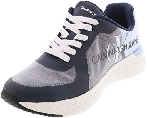 Calvin Klein Jeans Zapatillas de deporte para hombre Adamir Logo Moda Marina US, color Azul, talla 42.5 EU