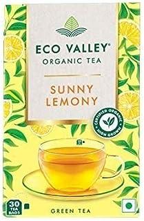 Eco Valley Organic Green Tea, Sunny Lemony, 30 Tea Bags