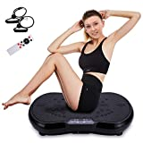 Healthgenie Full Body Viberation Platform Machine, Vibration Plate Exercise Whole Body Vibration Machine with 99 Levels Vibrarating Workout