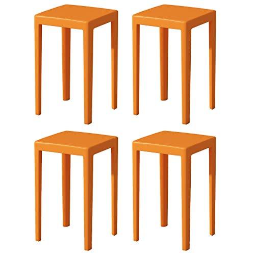 SYN-GUGAI Muebles Paquete De 4 Taburetes De Plástico Multicolor para Adultos Y Niños, Taburete para Niños, Carga De 400 Libras, Adecuado para Sala De Estar, Sala De Estudio, Baño, Altura 46 Cm