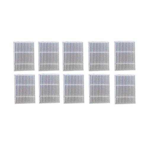 Haodasi 10PCS Hepa Filter für Proscenic Intelligente Kehrmaschine Staubsauger P1 P1S P2 P2S P3 MC65 MC70 Bluesky,Ersatz Reiniger Filter Netto Kit