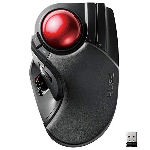 Elecom trackball Mouse Wireless 8 Button Big Ball M-HT1DRXBK