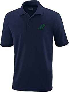Custom Polo Performance Shirt Large Winged Shoe Outline Embroidery Design