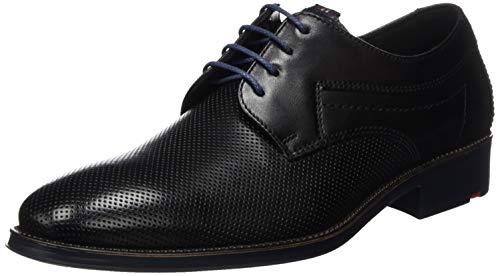 LLOYD Herren Businessschuh Gavino, Männer Schnürhalbschuhe, Business-Schuh anzugschuh Herren Maenner maennliche robust,SCHWARZ/Ocean,10.5 UK / 45 EU