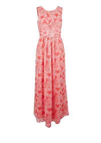s.Oliver Damen Crêpe-Kleid mit Raffungen coral AOP 38