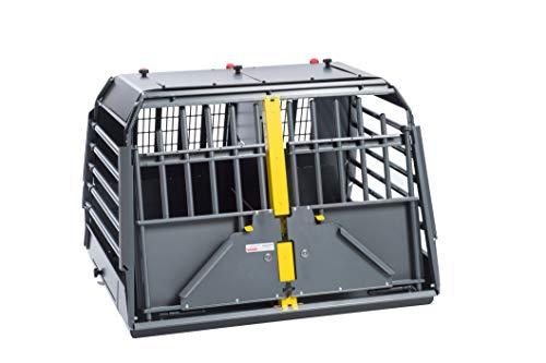 Kleinmetall VarioCage Doppelbox M Hundebox und Transportbox für Hunde im Auto
