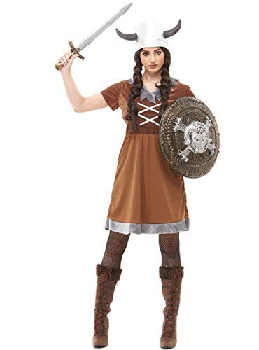 Funidelia | Disfraz de Vikingo para Mujer Talla L Nrdico, Valkiria, Brbaro, Vikings - Marrn