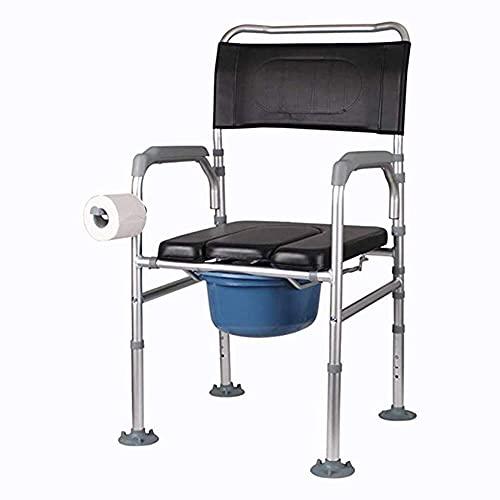 N/Z Haushaltsgeräte Tragbare 3-in-1-Falttoilette aus Aluminiumlegierung am Bett kann als angehobener Toilettensitz-Riser für Erwachsene 93 verwendet Werden