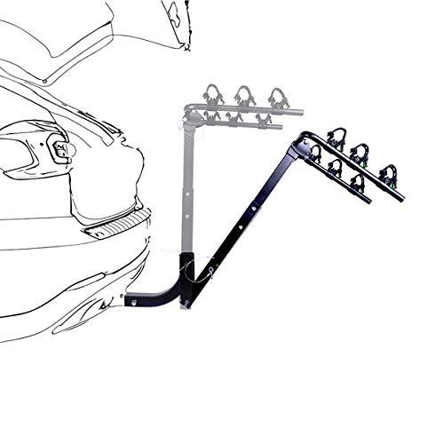 GHqY Portaequipajes Universal Ajustable, Portabicicletas para Montaje En Maletero para 3 Bicicletas, Instalación Rápida para Camiones Autos Todoterrenos Minivans