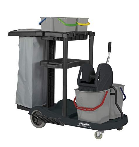 Sprintus 301106 - Carro de limpieza profesional con cuatro cubos