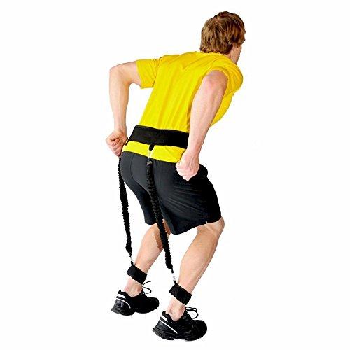 Sprungtraining - verstellbarer, gepolsterter Trainingsgürtel / Widerstandsbänder zum Trainieren der Beinstärke, Sprungkraft, Fitness, 5pc/set