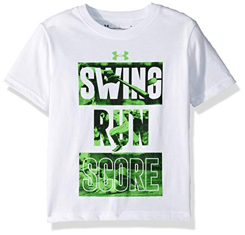 Under Armour Boys' Little Baller Short Sleeve T-Shirt, White-S194, 7