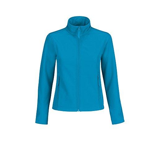 B&C Damen Softshell-Jacke, wasserabweisend (Large) (Atoll/Grau)
