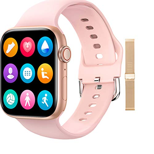 QAK T800 Smartwatch 1.72 Pulgadas DIY AIL Fitness Bluetooth Pulsera Smart Watch para Hombres Y Mujeres PK IWO W46 W56 Series 6 para iOS Android,C