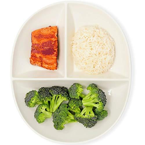 Portionskontrollplatte für gesundes Essen & Gewichtsverlust, geteilter Teller aus Porzellan für Erwachsene & Kinder, 1 Stück