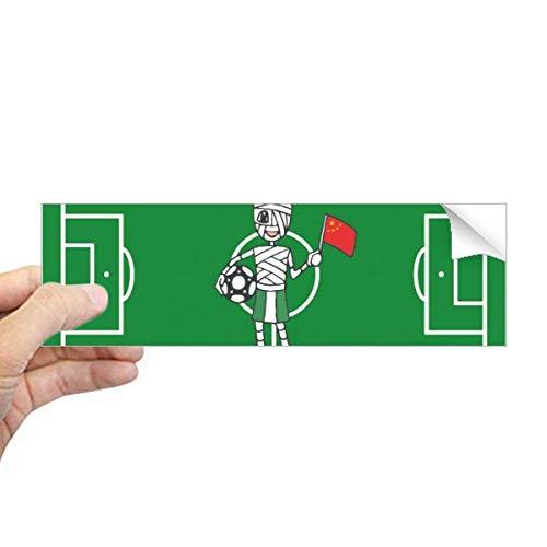 DIYthinker Nigeriaanse Voetbal Mummy Chinese Vlag Rechthoek Bumper Sticker Notebook Window Decal
