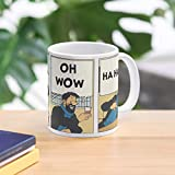 Oh Haddock Captain Mug Tintin Wow - Taza de café de regalo de moda superventas negra, blanca, cambia de color 11 onzas, 15 onzas para todos…