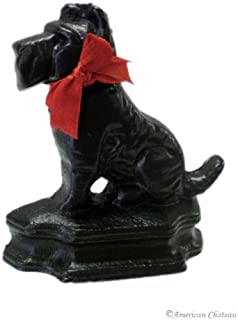 American Chateau Cast Iron Black Scottish Dog Terrier Door Stops Stop Doorstop Stopper