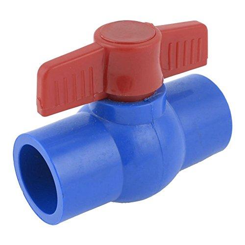 ACAMMPTAR - Grifo de bocina esférico de PVC U-PVC (32 mm), color rojo