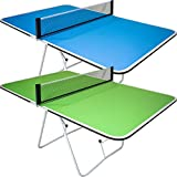 Butterfly Family Mini Ping Pong Table | 1 Piece Portable Ping Pong Table for Tailgating Games | 2ft Height |...
