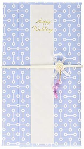 ハンカチで出来た御祝儀袋「心込袋」 点と線 ブルー