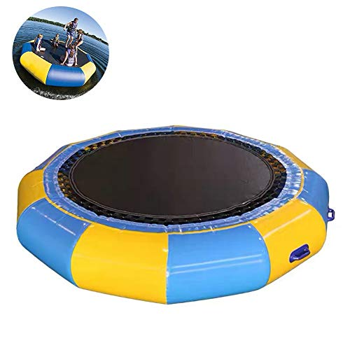 DZWJ Inflatable Water Trampoline,Splash Padded Water Bouncer Inflatable Bouncer Jump Water Trampoline Bounce for Water Sports