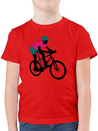 Sport Kind - Mountainbike MTB Geländefahrrad - 116 (5/6 Jahre) - Rot - Mountainbike - F130K - Kinder Tshirts und T-Shirt für Jungen