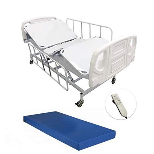 Cama Hospitalar Motorizada com Colchão 3 Movimentos com Elevação e Descida do Leito Semi Luxo