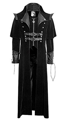 Punk Rave Dark Dreams Steampunk Gothic Mantel Jacke Gehrock Mandrake M L XL XXL, Größe:XXXL