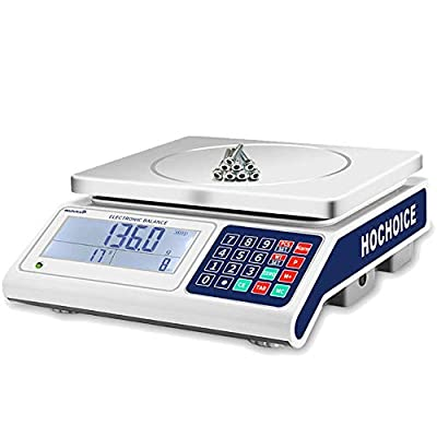 Industrial Counting Scale | 30kg Capacity and 0.1g Accuracy | Gram Scale|Counting Scales for Parts and Coins|with RS232 for Connecting Computer or Printer(Unit: Only G, KG. Without Battery)