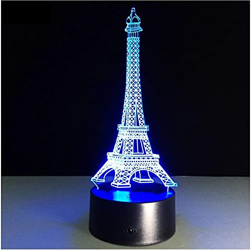 La Torre Eiffel, Lámpara 3D, Luz De Noche Led, Ilusión 3D, Lámpara De Noche, Lámpara De Escritorio, Iluminación Del Hogar, Cambio De Color Para Regalo De Niños