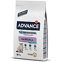Advance Hairball Sterilized - Pienso para Gatos esterilizados con propesión a Formar Bolas de Pelo - 3 kg