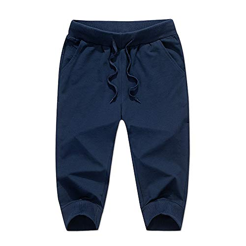 Jubaton Pantalones de chándal cónicos Delgados de Color Liso para Hombre Pantalones Cortos de Gimnasio para Correr Pantalones para Correr Casuales, con Bolsillo XL