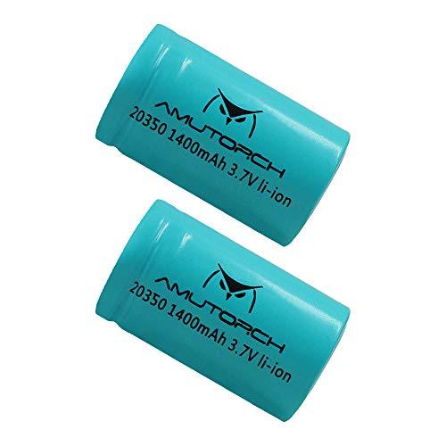 Amutorch 3,7 Volt wiederaufladbare 20350 Batterie, langlebige Leistung, geeignet für E3S Taschenlampe