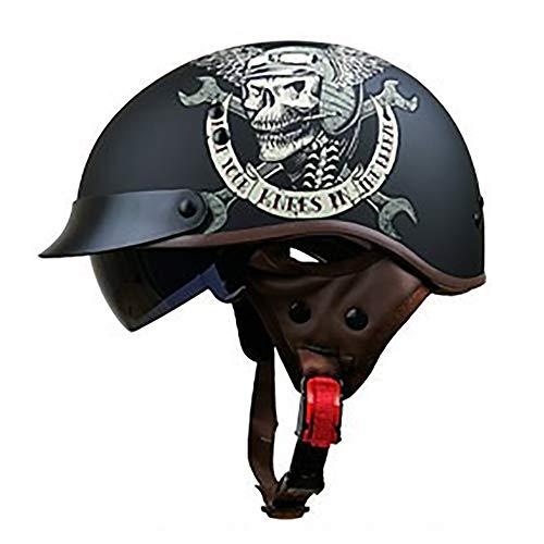 JSL Helmets Casco de motocicleta con protección solar para hombres y mujeres, casco de verano, lente HD incorporada, para bicicleta, ciclomotores, todo terreno, Mecánico., Medium