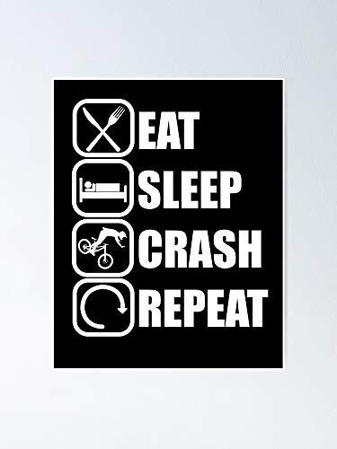 AZSTEEL Eat Sleep Crash Repeat Poster
