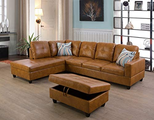 Ainehome Furniture Sectional Sofa Set L Shape Couch Living Room Sofa Set Leather Sectional Sofa product image