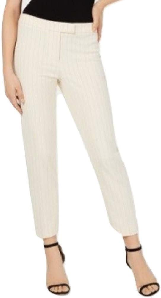 Anne Klein Women's Striped Straight-Leg Pants
