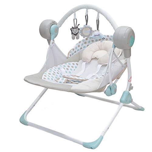 Balancín eléctrico con balancín Bluetooth para bebé, balancín para cuna, cuna y balancín cómodo (color #3)