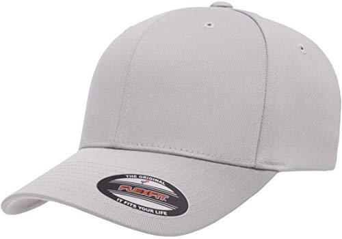 Flexfit Herren Men\'s Athletic Baseball Fitted Cap Kappe, Silber, S/M