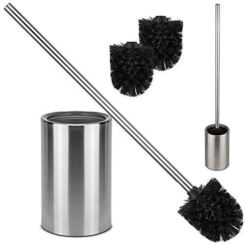 bonsport XXL Klobürste aus Edelstahl - Toilettenbürste mit extra langem Stiel und WC Bürstenhalter für das Badezimmer