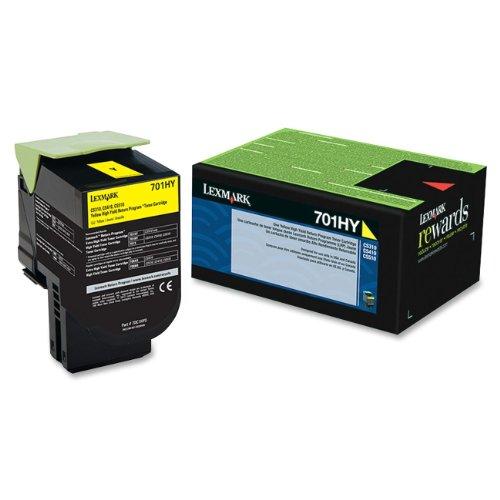 Lexmark 70C1HY0 701HY - High Yield - yellow - original - toner cartridge LCCP, LRP - for Lexmark CS310dn, CS310n, CS410dn, CS410dtn, CS410n, CS510de, CS510dte