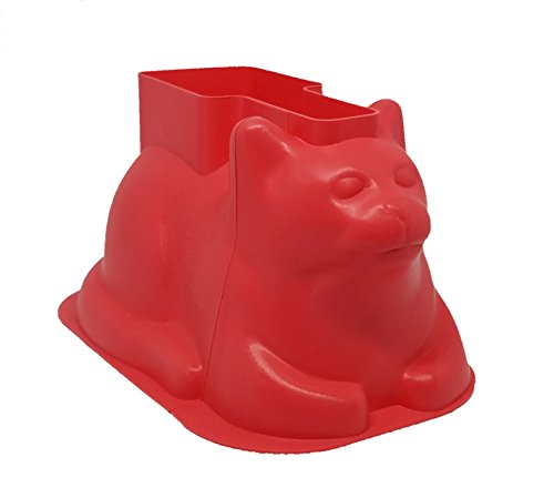 Original Mini Cat Shaped Cake Molds (4 Pack, Silicone) - Cup cakes, chocolate, Jello - Great For Parties, Holidays - Unique Baking Gifts for Cat Lovers, Cupcake Lovers - Charlie Cat Baking