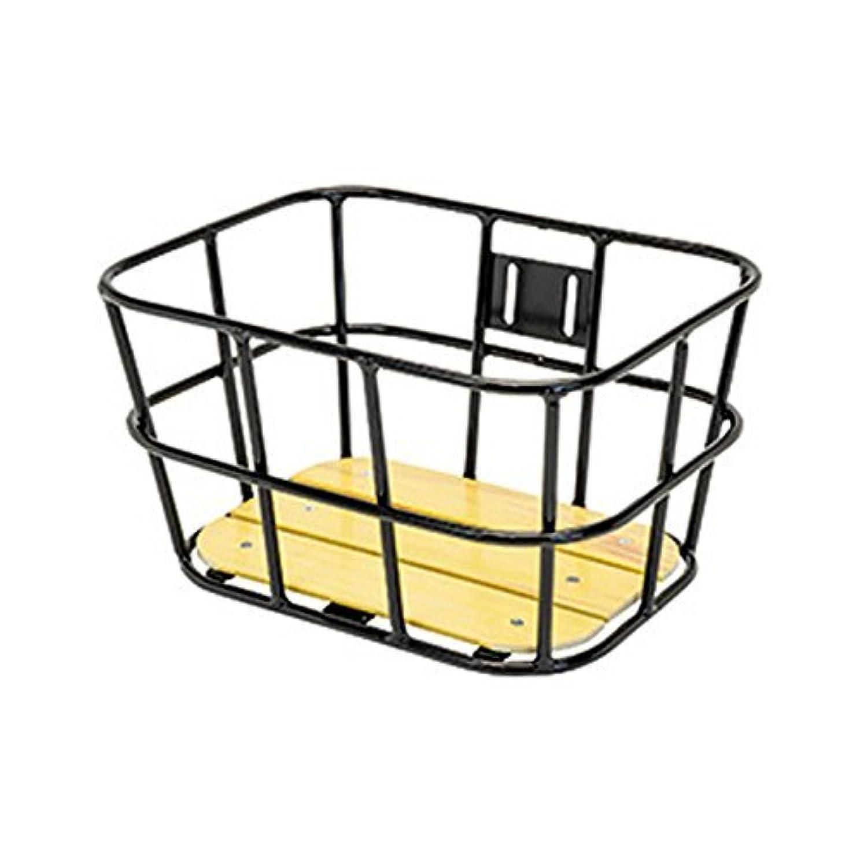 虫芸術的ペダル(GIZAPRODUCTS/ギザプロダクツ)(自転車用かご)AL-N04 ウッド ボトム バスケット ブラック